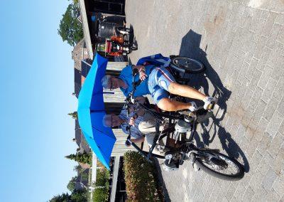 fietsen in de warmte